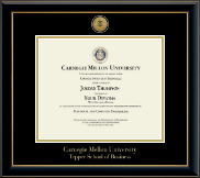 Carnegie Mellon University Diploma Frame - Gold Engraved Medallion Diploma Frame in Onyx Gold
