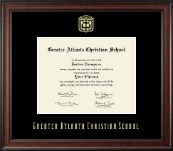 Greater Atlanta Christian School Diploma Frame - Gold Embossed Diploma Frame in Studio