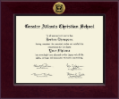 Greater Atlanta Christian School Diploma Frame - Century Gold Engraved Diploma Frame in Cordova