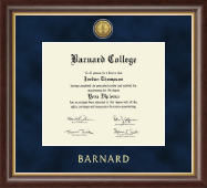 Barnard College Diploma Frame - Gold Engraved Medallion Diploma Frame in Hampshire