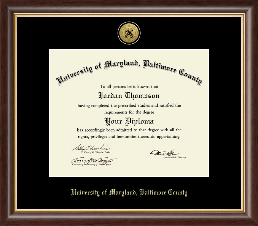 University Of Maryland Baltimore County Gold Engraved