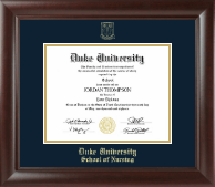 Duke University Diploma Frame - Gold Embossed Diploma Frame in Rainier
