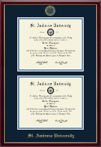 Saint Ambrose University Diploma Frame - Gold Embossed Double Diploma Frame in Galleria