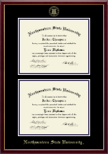 Northwestern State University Diploma Frame - Double Diploma Frame in Galleria