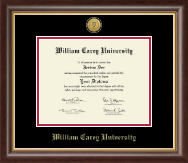 William Carey University Diploma Frame - Gold Engraved Medallion Diploma Frame in Hampshire