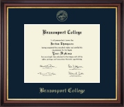 Brazosport College Diploma Frame - Gold Embossed Diploma Frame in Regency Gold