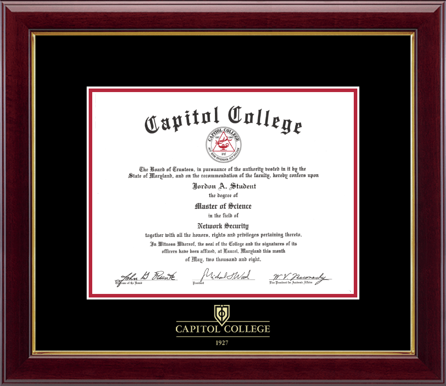 capitol college embossed diploma frame in gallery item 137786 from capitol college