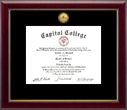 Capitol College Diploma Frame - Gold Engraved Medallion Diploma Frame in Gallery