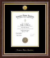 Gamma Theta Upsilon Certificate Frame - Gold Engraved Medallion Certificate Frame in Hampshire