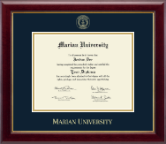 Marian University in Wisconsin Diploma Frame - Gold Embossed Diploma Frame in Gallery