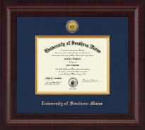 University of Southern Maine Diploma Frame - Presidential Gold Engraved Diploma Frame in Premier