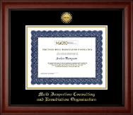 Mold Inspection Consulting and Remediation Organization Certificate Frame - Gold Engraved Medallion Certificate Frame in Cambridge