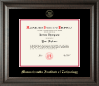 Massachusetts Institute of Technology Diploma Frame - Gold Embossed Diploma Frame in Acadia