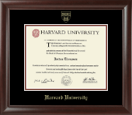 Harvard University Diploma Frame - Gold Embossed Diploma Frame in Rainier