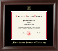 Massachusetts Institute of Technology Diploma Frame - Gold Embossed Diploma Frame in Rainier