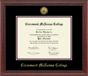 Claremont McKenna College Diploma Frame - Gold Engraved Medallion Diploma Frame in Signature