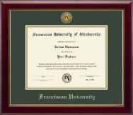 Franciscan University of Steubenville Diploma Frame - Gold Engraved Medallion Diploma Frame in Gallery