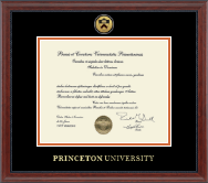 Princeton University Diploma Frame - Gold Engraved Medallion Diploma Frame in Signature