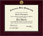 Arkansas State University at Jonesboro Diploma Frame - Century Gold Engraved Diploma Frame in Cordova