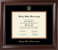 Idaho State University Diploma Frame - Gold Embossed Diploma Frame in Rainier