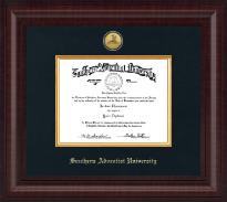 Southern Adventist University Diploma Frame - Presidential Gold Engraved Diploma Frame in Premier