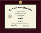 St. Cloud State University Diploma Frame - Century Gold Engraved Diploma Frame in Cordova