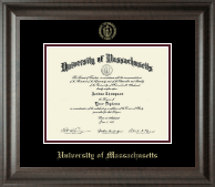 University of Massachusetts Amherst Diploma Frame - Gold Embossed Diploma Frame in Acadia