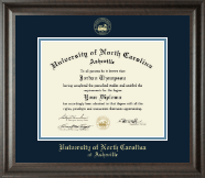University of North Carolina Asheville Diploma Frame - Gold Embossed Diploma Frame in Acadia