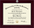 University of North Carolina Asheville Diploma Frame - Century Silver Engraved Diploma Frame in Cordova