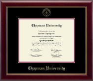 Chapman University Diploma Frame - Gold Embossed Diploma Frame in Gallery