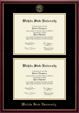 Wichita State University Diploma Frame - Double Diploma Frame in Galleria