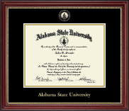 Alabama State University Diploma Frame - Masterpiece Medallion Diploma Frame in Kensington Gold