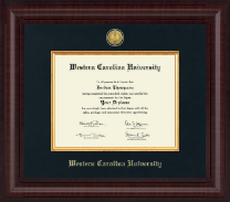 Western Carolina University Diploma Frame - Presidential Gold Engraved Diploma Frame in Premier