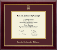 Loyola University Chicago Diploma Frame - Gold Embossed Diploma Frame in Gallery