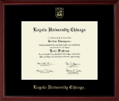Loyola University Chicago Diploma Frame - Gold Embossed Diploma Frame in Camby