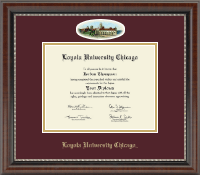 Loyola University Chicago Diploma Frame - Campus Cameo Diploma Frame in Chateau