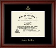 Doane College Diploma Frame - Gold Embossed Diploma Frame in Cambridge