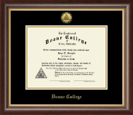 Doane College Diploma Frame - Gold Engraved Medallion Diploma Frame in Hampshire