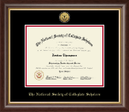 The National Society of Collegiate Scholars Certificate Frame - Gold Engraved Medallion Certificate Frame in Hampshire