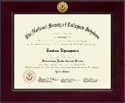 The National Society of Collegiate Scholars Certificate Frame - Century Gold Engraved Certificate Frame in Cordova