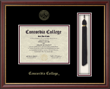 Concordia College Moorhead Diploma Frame - Tassel Diploma Frame in Newport