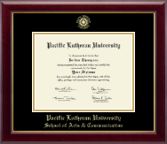 Pacific Lutheran University Diploma Frame - Gold Embossed Diploma Frame in Gallery
