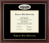 Emporia State University Diploma Frame - Campus Cameo Diploma Frame in Chateau