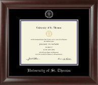 University of St. Thomas Diploma Frame - Silver Embossed Diploma Frame in Rainier