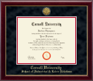 Cornell University Diploma Frame - Gold Engraved Medallion Diploma Frame in Gallery