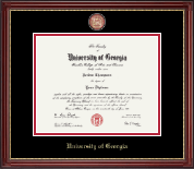 The University of Georgia Diploma Frame - Masterpiece Medallion Diploma Frame in Kensington Gold