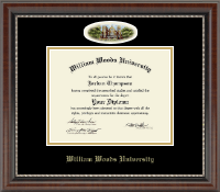 William Woods University Diploma Frame - Campus Cameo Diploma Frame in Chateau