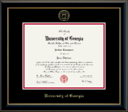 The University of Georgia Diploma Frame - Gold Embossed Diploma Frame in Onyx Gold