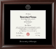 The University of Georgia Diploma Frame - Silver Embossed Diploma Frame in Rainier