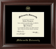 Millersville University of Pennsylvania Diploma Frame - Gold Embossed Diploma Frame in Rainier